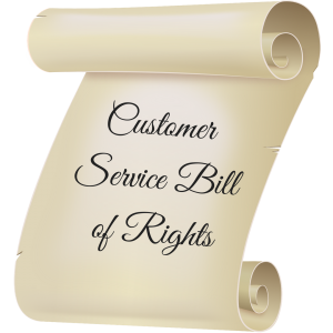 Image of Customer Service Bill of Rights