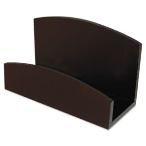 Image of Eco-Friendly Bamboo Curves Business Card Holder