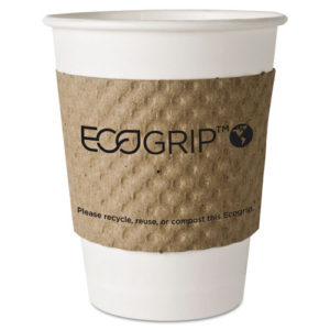 Image of EcoGrip Hot Cup Sleeves that are Renewable & Compostable