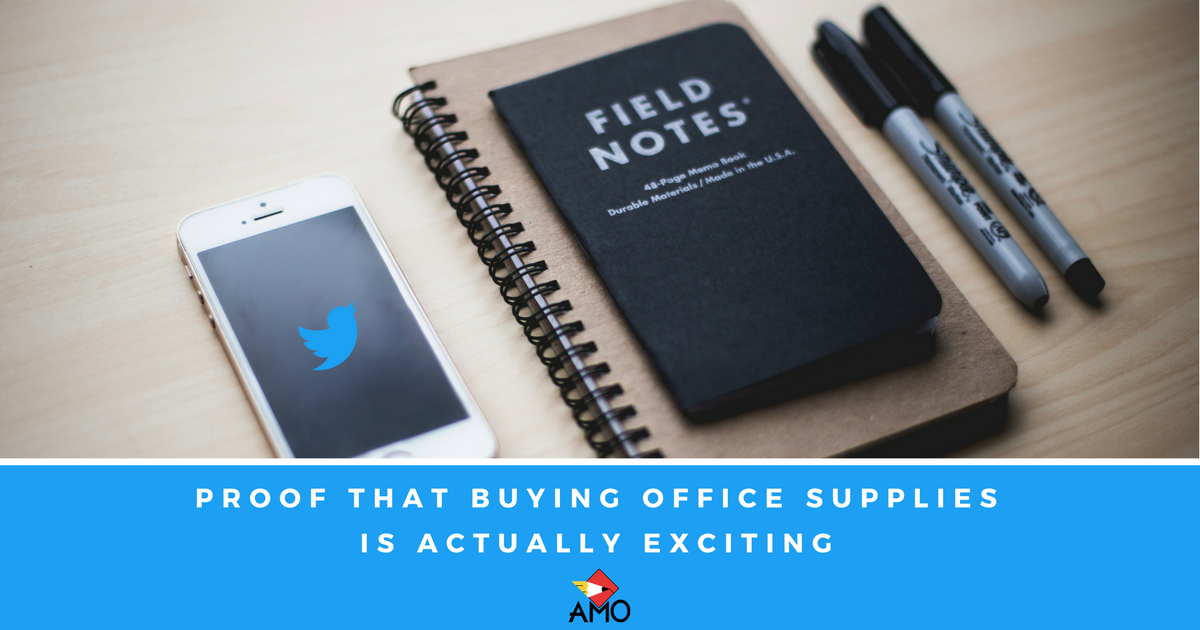Here's Proof From Twitter That Buying Office Supplies is Actually Exciting